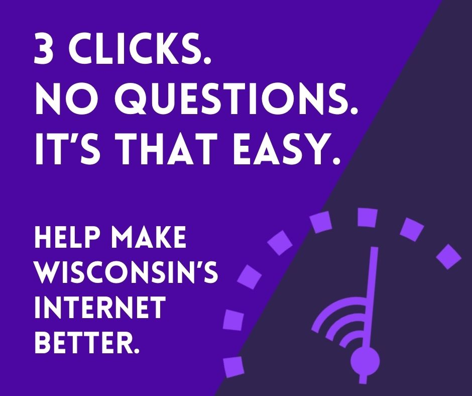 Test your home internet. 3 clicks. No questions. It's that easy.